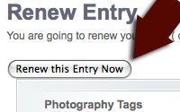 Renew an entry